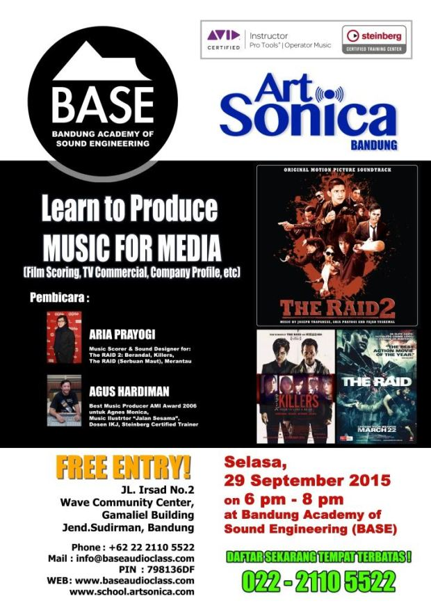 Seminar MUSIC FOR MEDIA & Film Scoring di sekolah ArtSonica