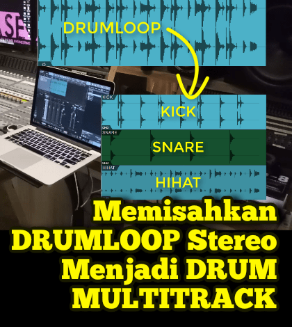 memisahkan drumloop
