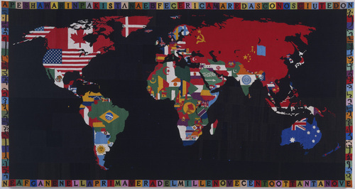 Alighiero Boetti - Mappa - 1989 - © 2013 Artists Rights Society (ARS), New York SIAE, Rome