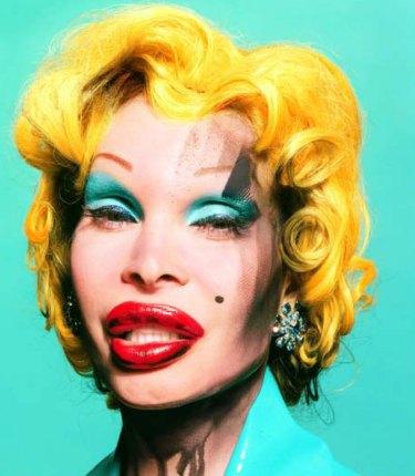 Amanda as Andy Warhol's Marilyn