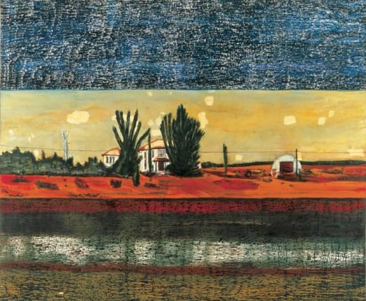 Peter Doig, Grasshopper,huile sur toile