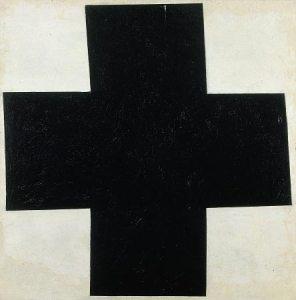 17[1]. MALEVITCH, croix noire sur fond blanc