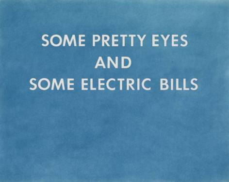 PRETTY EYES, ELECTRIC BILLS 1976 by Edward Ruscha born 1937