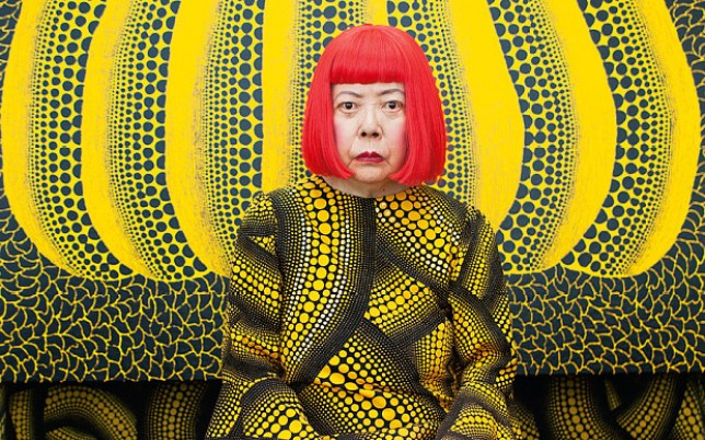 Yayoi Kusama in Yellow Tree room, Courtesy The Whitney Museum and Louis Vuitton