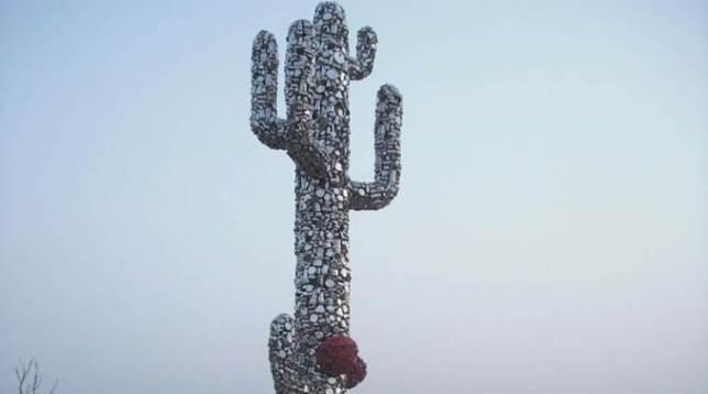 subodh gupta cactus installation