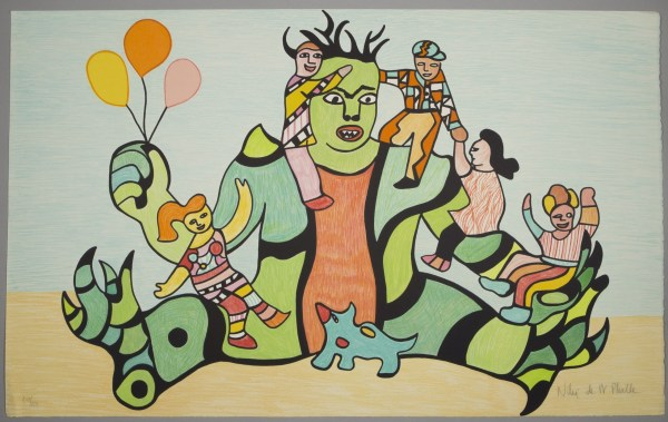 NIKI DE SAINT PHALLE - Le monstre, 1995 (Original handsigned lithograph and numbered in pencil)
