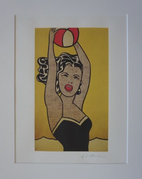 ROY LICHTENSTEIN - Girl with ball (1981), 2005 (Lithography, signed in the plate, new)