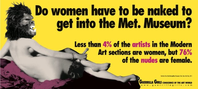 ©Guerilla Girls, Feminist Artists