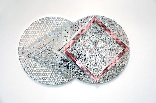 monir-farman-monir-farmanfarmaian_square-and-triangle_2010_mirror-reverse-glass-painting-and-plaster-on-wood_100x160cm_w900