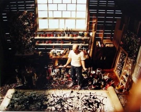 jackson pollock in studio