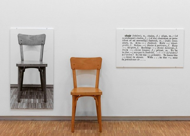 Art Conceptuel, Jospeh Kosuth, One and Three Chairs 92061ed3f4ee