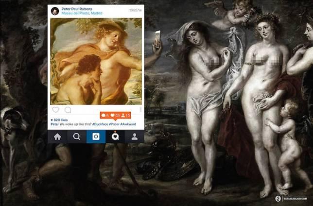 Instagram peinture renaissance