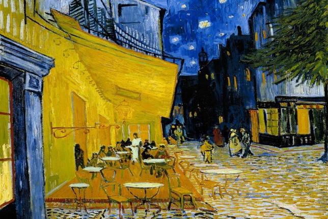 Van Gogh Terrasse du café le soir
