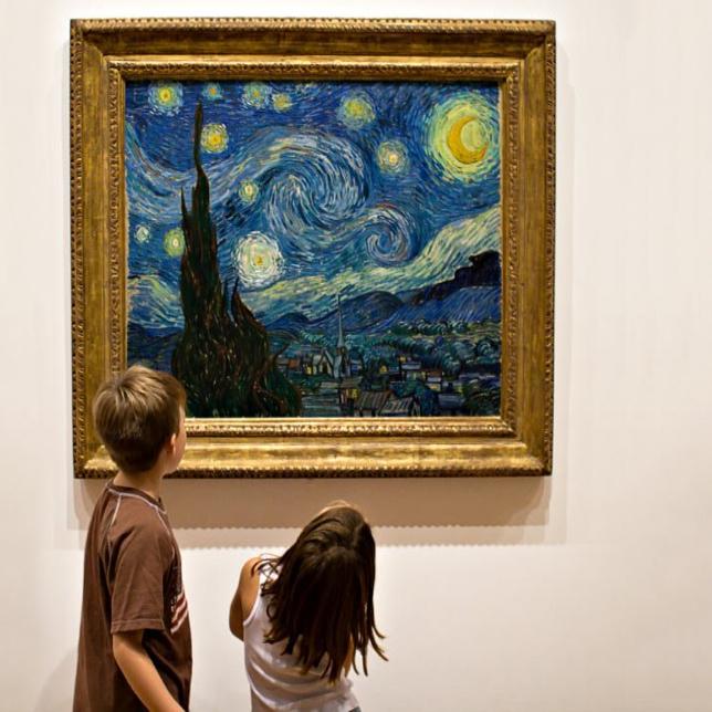 Enfants nuit étoilée Van Gogh