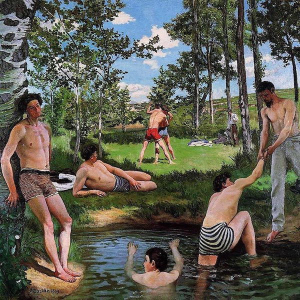 seasons in art summer in art bathers summer scene frederic bazille modern art summer painting