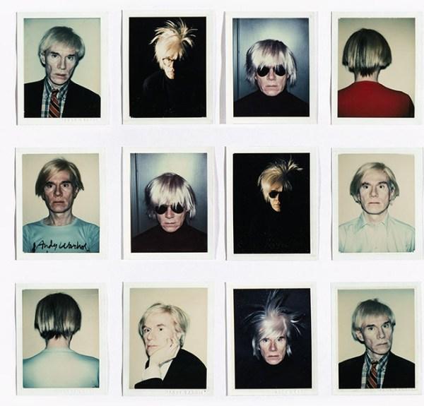 selfie Andy Warhol