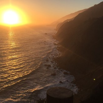 We made it for the sunset - Near Big Sur