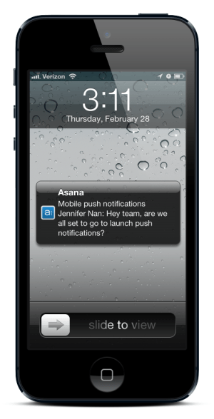 push notifications in our