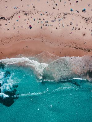 Bondi Beach from above, Sydney, Australia