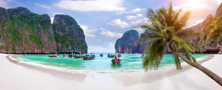 Maya Bay Beach, Ko Phi Phi Island, Thailand