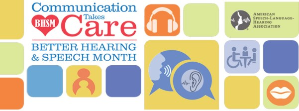 Better Hearing and Speech Month Logo