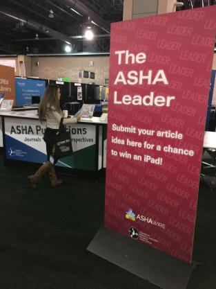 The ASHA Leader Booth
