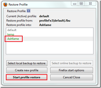 how to create new profile in firefox
