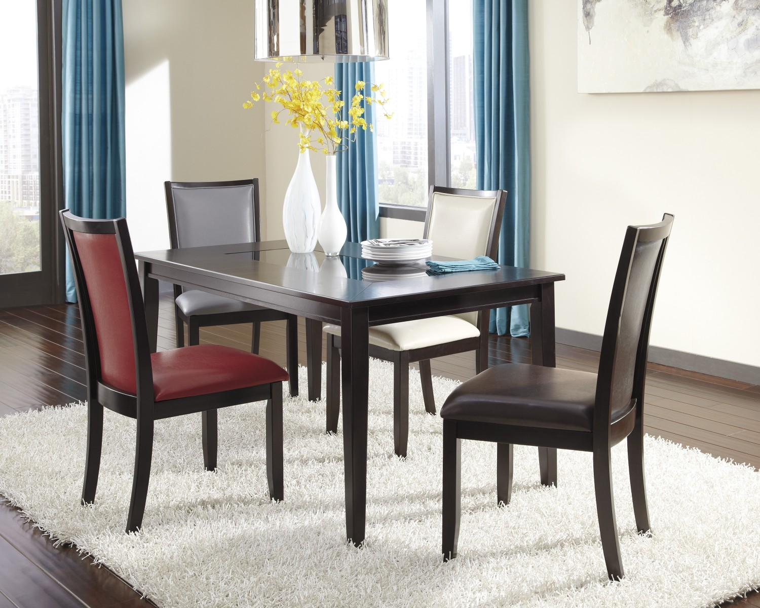 ashley furniture dining room chairs front porch rocking black how to mix and match d550 25 02 03 04 05 color wheel