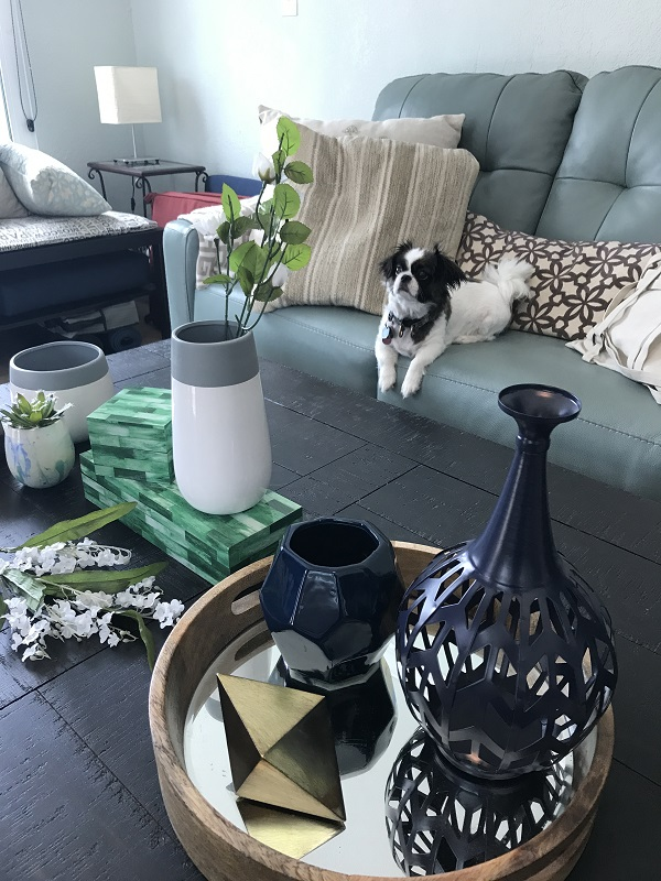 living room coffee table decorations simple ideas decorating to match every style ashley homestore with vases trays boxes and other accent pieces