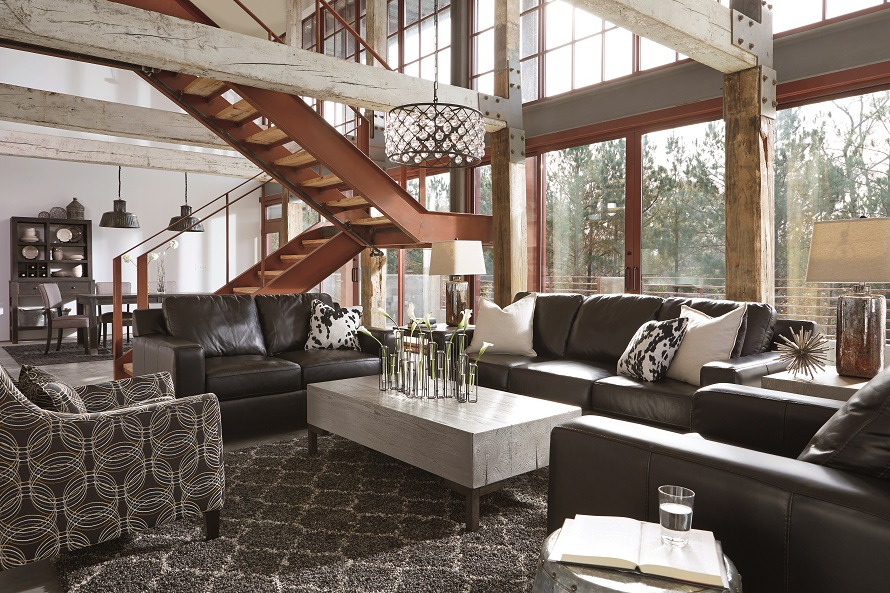 layout my living room furniture designs 2018 uk guide plan ideas ashley elegant antique black leather sofa and soft arm chair with contemporary patterned accent in
