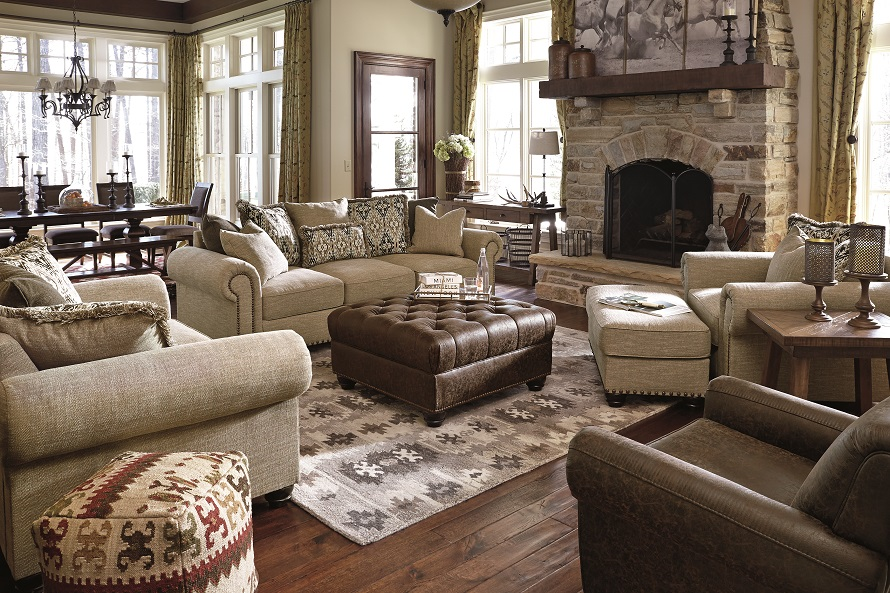 living room furniture setup ideas wall colors for as per vastu layout guide plan ashley several neutral and rustic peices in a with lots of wood country