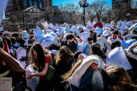 2013 National Pillow Fight in Washington Square Park ...