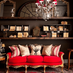 Red Rugs For Living Room Furniture Couches Recliners Tv S 7 Gorgeous Holiday Interiors Transformed By