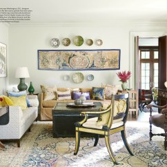 House Beautiful Living Room Ideas For The 5 Best Rooms With Designer Rugs In September A 19th Century Tabriz Rug Designed By Mona Hajj