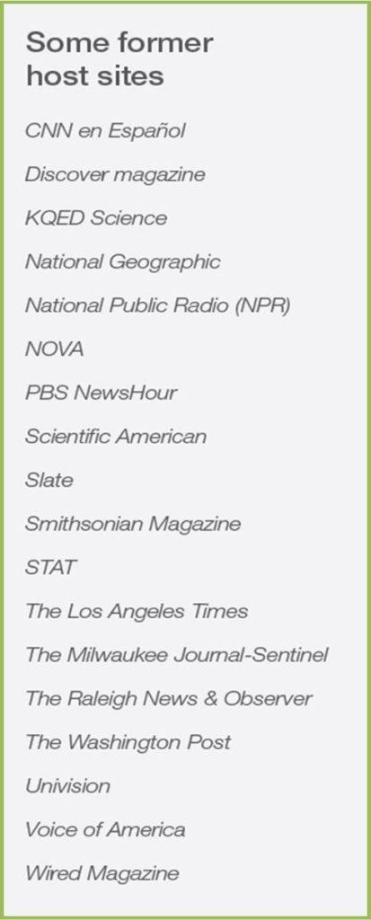ASPB/AAAS 2018 Mass Media Science & Engineering Fellows