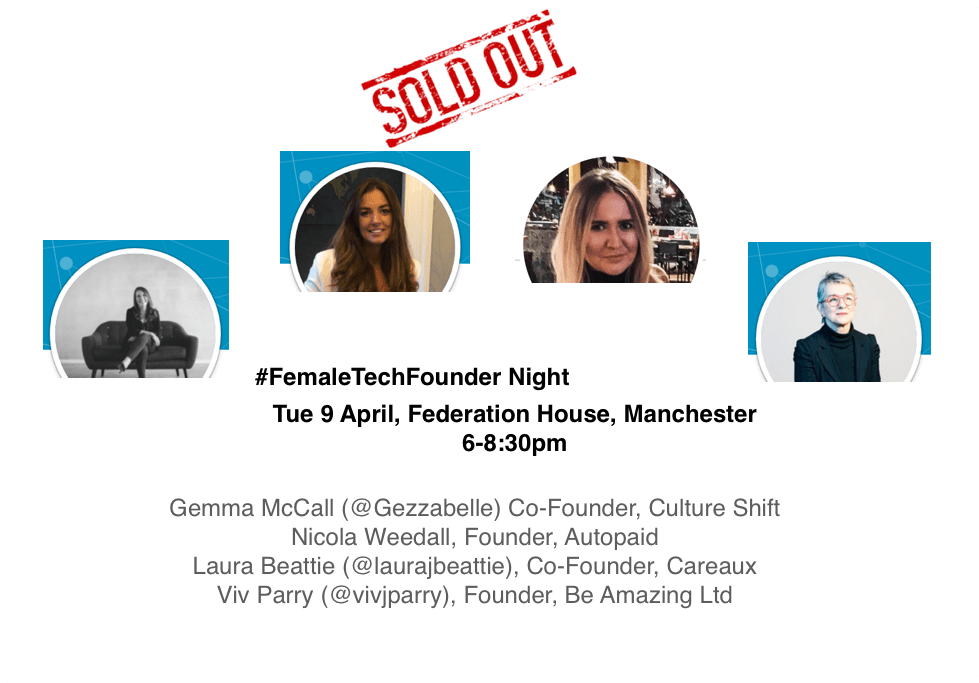 #FemaleTechFounder Night – April event sold out!