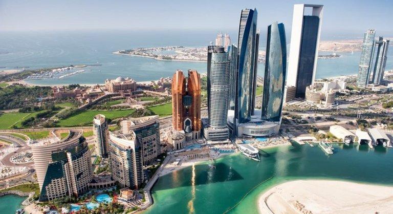 aerial view of Abu Dhabi skyline