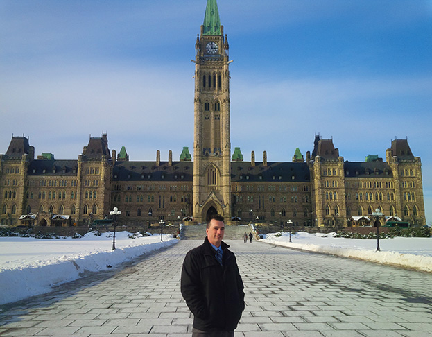 Ryan Fontaine at Parliment Hill