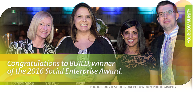 Assiniboine Credit Union (ACU) congratulates BUILD, the winner of the 2016 Spirit of Winnipeg Award for Social Enterprise