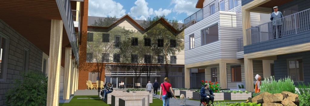 Old Grace Housing Co-operative Courtyard Drawing