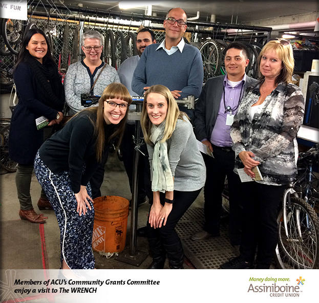 Members of ACU's Community Grants Committee enjoy a visit to The WRENCH learn more blog.assiniboine.mb.ca