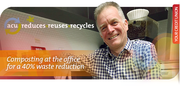 Composting at the office for a 40% waste reduction