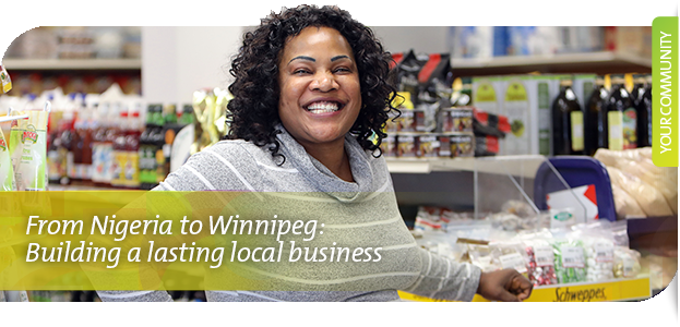 Local entrepreneur Elizabeth Lawal from Akin's International Foods in Winnipeg