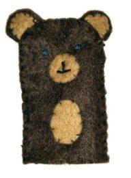 Marionnette de doigt - Maman ours Brun
