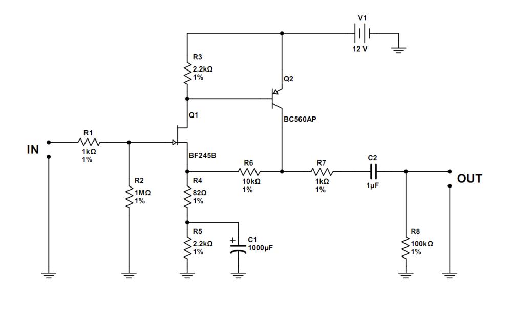 medium resolution of simple jfet preamp