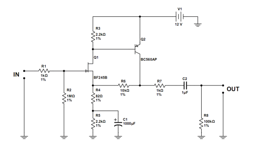 small resolution of simple jfet preamp