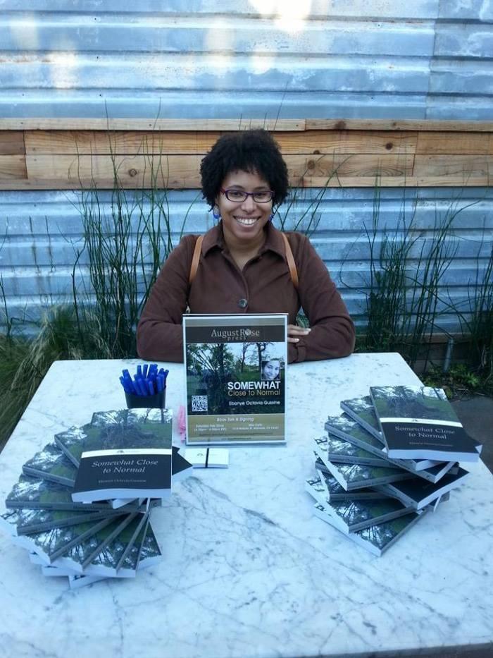 Ebonye at the Somewhat Close To Normal Book Talk, Alameda, CA