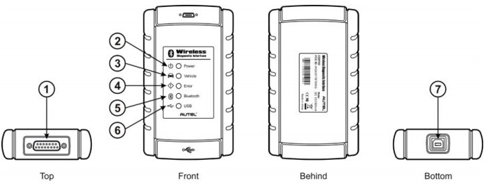 AutelOBD2 Maxisys Bluetooth Vehicle Communcation Interface