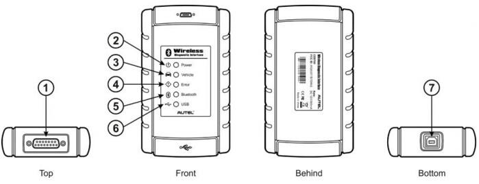 Autel Maxisys Bluetooth Vehicle Communcation Interface