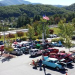 Overhead view of our 3rd annual Disabled American Veteran's car show from the roof of Waynesville Chevrolet Buick 1